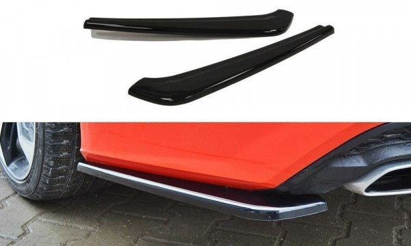 Heck Ansatz Flaps Diffusor Passend Für AUDI A7 S-LINE (FACELIFT) Carbon Look