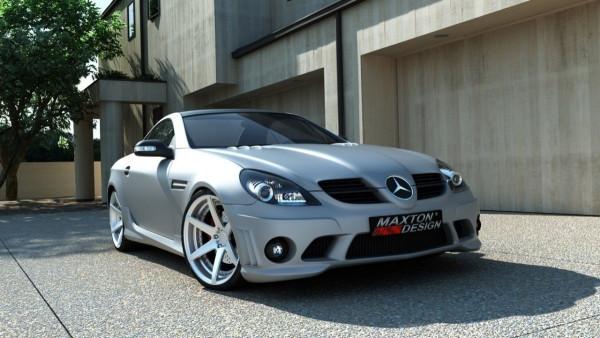 Front Stoßstange Frontschürze Passend Für Mercedes SLK R171 AMG 204 Look Mit Nebelscheinwerfer Schwa