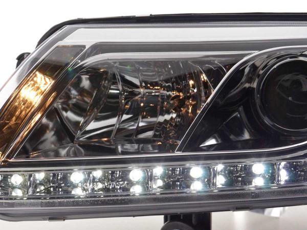 Scheinwerfer Set Daylight LED TFL-Optik Audi A6 Typ 4F Bj. 04-08 chrom