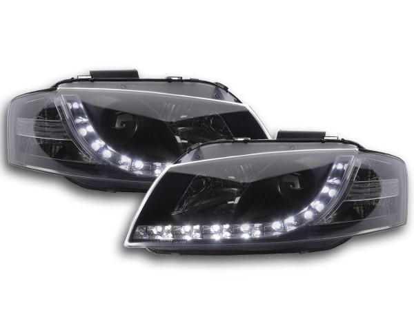 Scheinwerfer Set Daylight LED TFL-Optik Audi A3 Typ 8P Bj. 03-07 schwarz