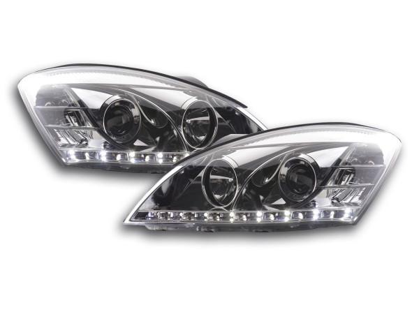 Scheinwerfer Set Daylight LED TFL-Optik Kia cee'd 5-trg. Typ ED Bj. 06-09 chrom