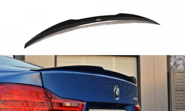 Spoiler CAP Passend Für BMW 4er F32 Schwarz Matt