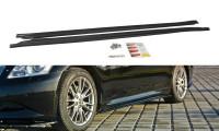 Seitenschweller Ansatz Passend Für Infiniti G37 Limousine Schwarz Hochglanz