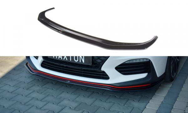 Front Splitter V.2 Hyundai I30 N Mk3 Hatchback / Fastback Schwarz Matt