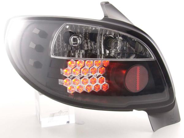 LED Rückleuchten Set Peugeot 206 3/5 trg. ohne Cabrio 98-05 schwarz
