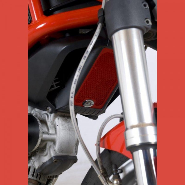 """R&G Kühlergitter Ölkühler """"RED"""" Ducati Monster 795 / 796"""