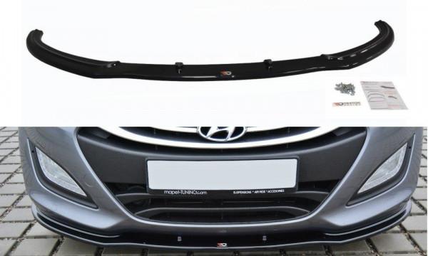 Front Ansatz Passend Für Hyundai I30 Mk.2 Schwarz Matt