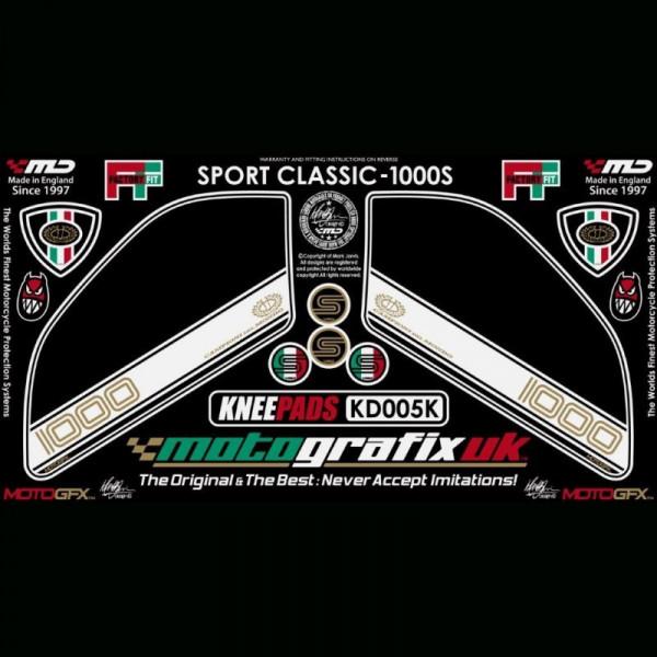 Motografix Tankschutz Knie Pads Ducati Sport Classic 1000 / S KD005K