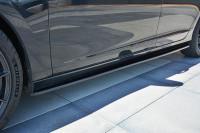 Seitenschweller Ansatz Passend Für Volvo V60 Polestar Facelift Schwarz Hochglanz