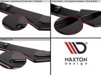 Heck Ansatz Flaps Diffusor Passend Für Mazda 6 GJ (Mk3) Facelift Schwarz Hochglanz