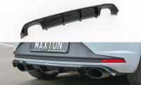 Diffusor Heck Ansatz Passend Für Seat Leon III Cupra Schwarz Matt
