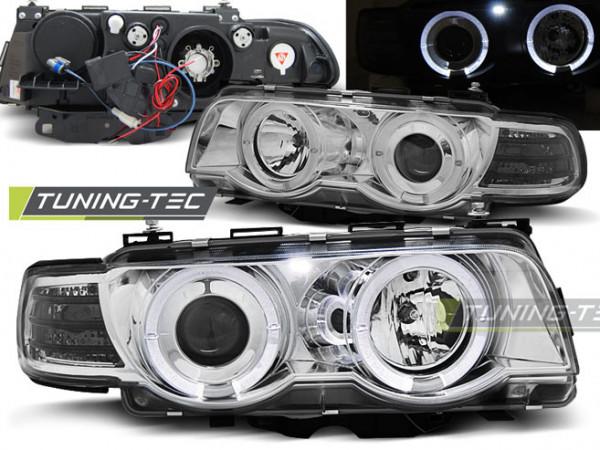 Xenon Scheinwerfer Angel Eyes chrom passend für BMW E38 09.98-07.01