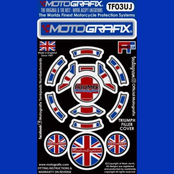 Motografix Tankdeckel Protektor Triumph Modelle TF03UJ