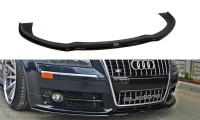 Front Ansatz Passend Für VW AUDI S8 D3 Schwarz Matt