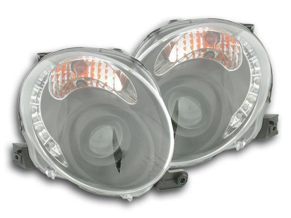 Scheinwerfer Set Daylight LED TFL-Optik Fiat 500 Bj. 07- schwarz