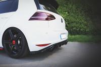 Diffusor Heck Ansatz Für VW GOLF Mk7 GTI CLUBSPORT Schwarz Hochglanz