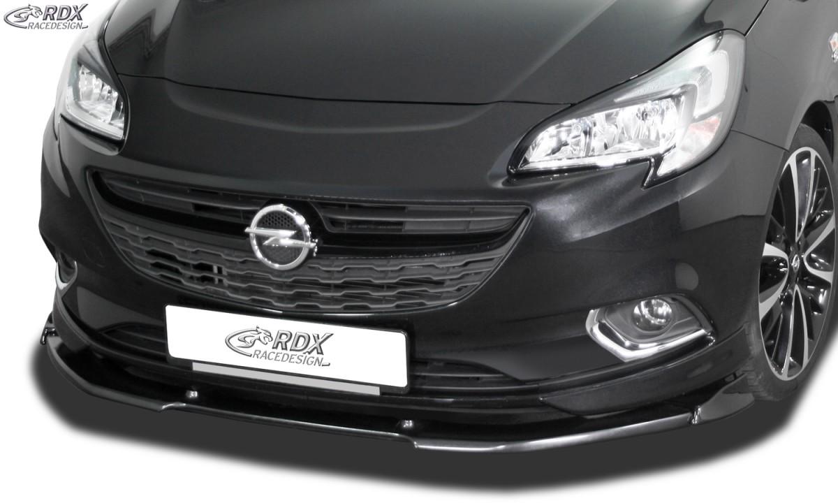 schwarze Spoilerlippe Frontspoiler Spoiler Diffusor Ansatz Opel Corsa D OPC CUP