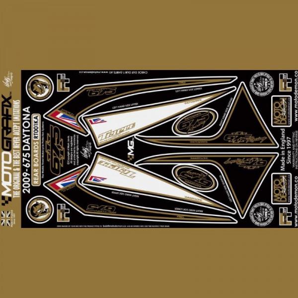Motografix Steinschlagschutz hinten Triumph Daytona 675 2009-2012 RT001KA