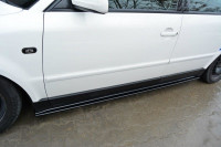 Seitenschweller Ansatz Für VW PASSAT B5 Schwarz Hochglanz