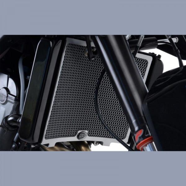 R&G Kühlergitter Wasserkühler KTM Duke 790 2018- für ohne original Plastik Bremsleitungsschutz